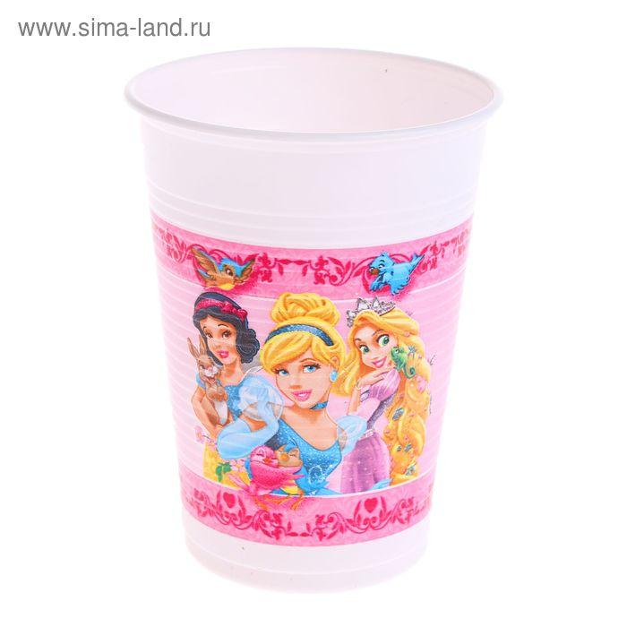 """Набор пластиковых стаканов """"Принцессы и животные"""", 8 шт., 200 мл"""