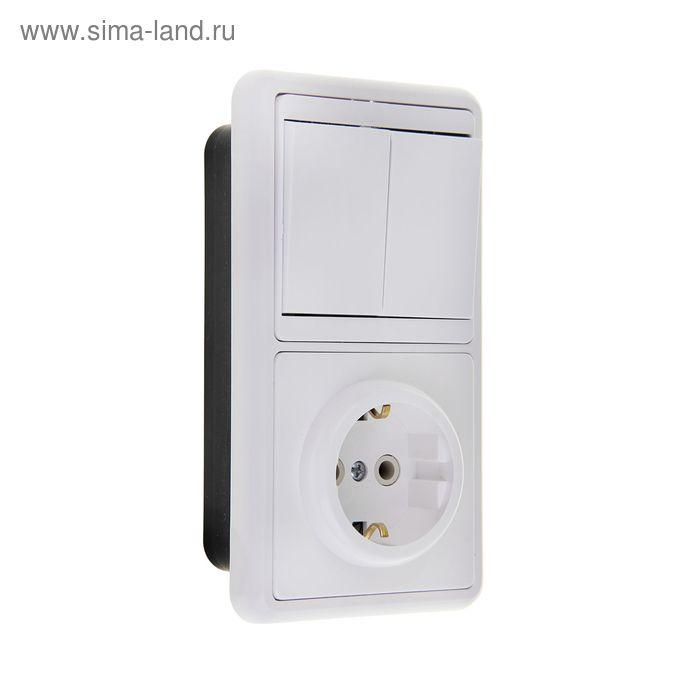 """Блок """"Кунцево"""" 5819 БКВР-031 Бэлла, 1 клавиша, с з/к, белый"""