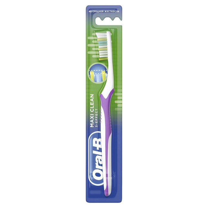 Зубная щетка Oral-B 3-Effect  Maxi Clean/Vision 40 средней жесткости
