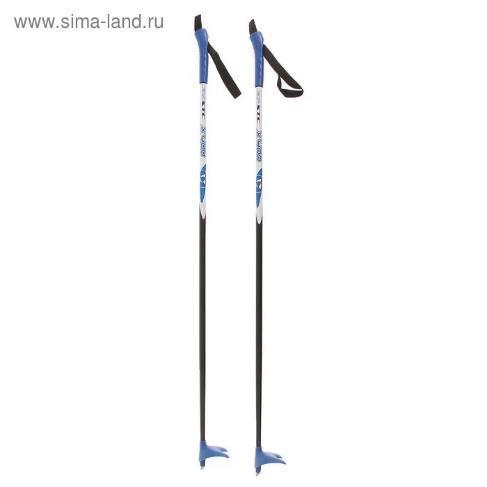 Палки лыжные стеклопластиковые, БРЕНД ЦСТ, р. 105 см, цвета МИКС