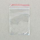 Пакет zip lock 5 х 7 см (с красной полосой)