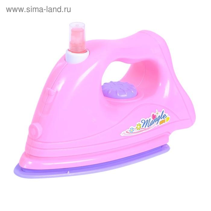 """Утюг """"Розовая мечта"""" с брызгалкой, световой и звуковой эффект, работает от батареек"""