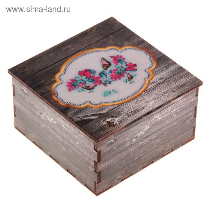 Шкатулка «Бабочки», 10х10х5,5 см