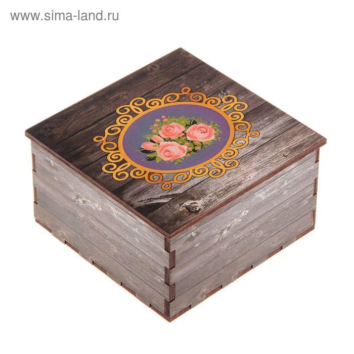 Шкатулка «Розы», 10х10х5,5 см