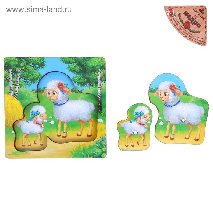 "Рамка-вкладыш "" Овца и ягненок"", 2 элемента"