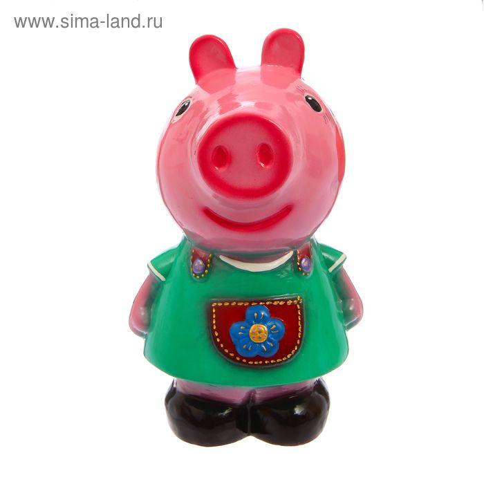 """Копилка """"Свинка Пеппи"""" большая, глянец, микс"""