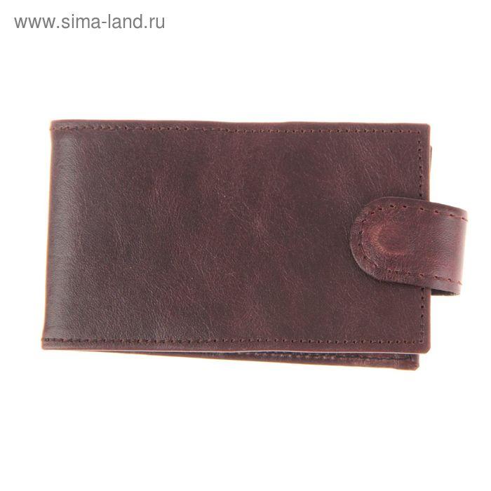 Кредитница на кнопке, 1 ряд, 36 карточек, коричневый глянцевый