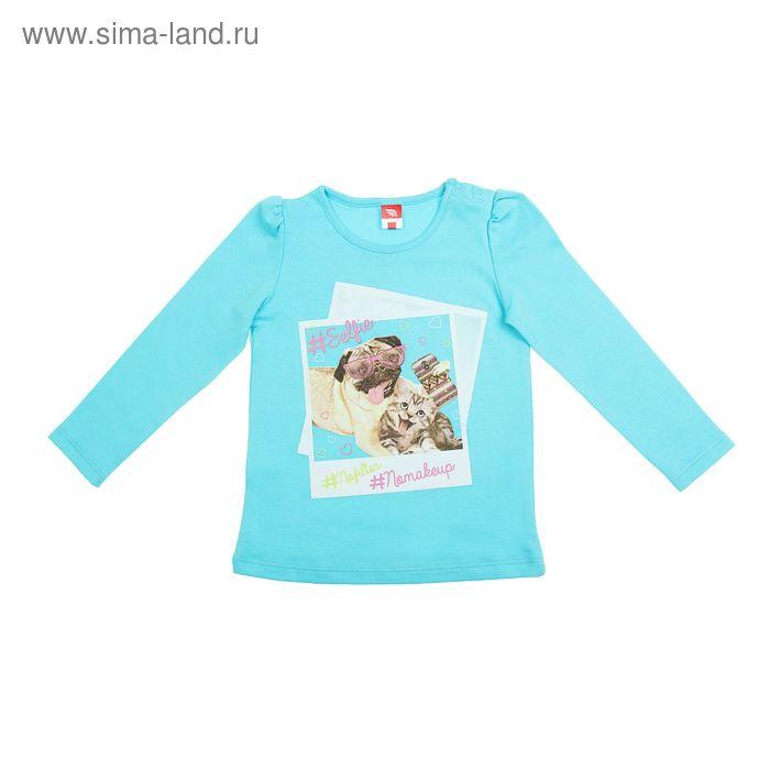 Джемпер для девочки, рост 116 см (60), цвет бирюзовый  CWK 61267_Д