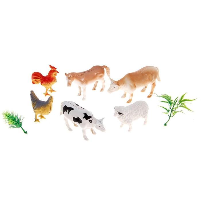 """Набор животных """"Домашние животные"""" с аксессуарами, (набор 6 шт)"""
