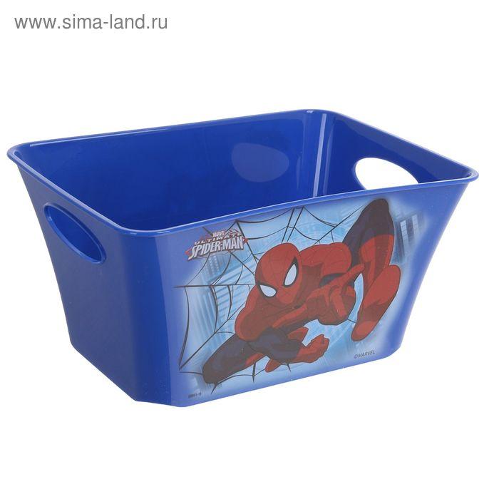 """Корзина для игрушек """"Человек-Паук"""", 1,5 л, цвет синий"""