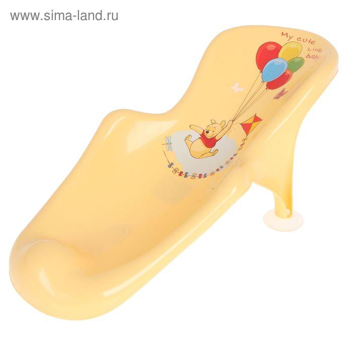 Горка для купания «Винни Пух», цвет банановый
