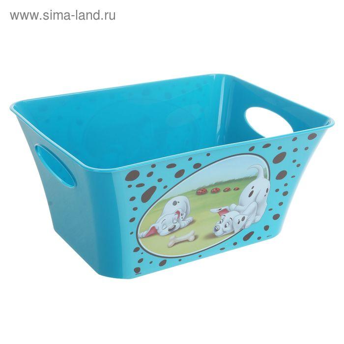 """Корзина для игрушек """"101 далматинец"""", 5 л, цвет бирюзовый"""