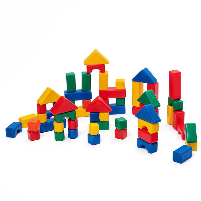 Строительный набор, 60 элементов 4 х 4 см