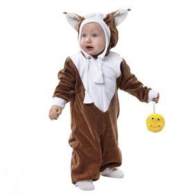 Детский карнавальный комбинезон 'Белочка' с игрушкой, велюр, рост 68-92 см Ош