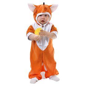"""Карнавальный комбинезон для малышей """"Лисичка"""" с игрушкой, велюр, рост 68-92 см, 1-2 года"""