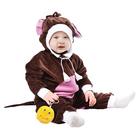 """Карнавальный комбинезон для самых маленьких """"Обезьянка"""" с игрушкой, велюр, рост 68-92 см"""