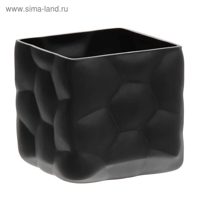 "Ваза ""Куб"" чёрная"