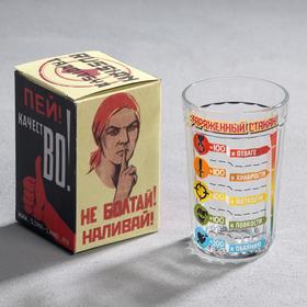 """Стакан граненый """"Заряженный Стакан"""", 250 мл"""