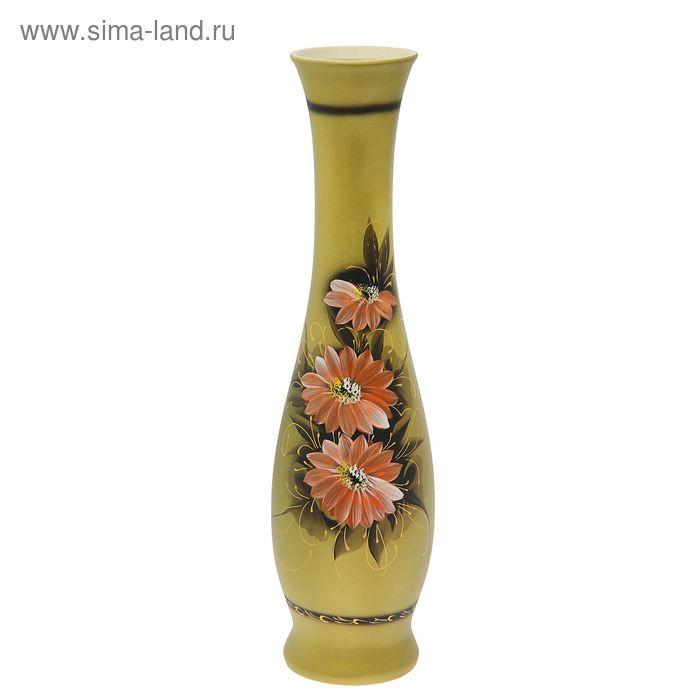 """Ваза напольная """"Грация"""" акрил, цветы, зелёный"""
