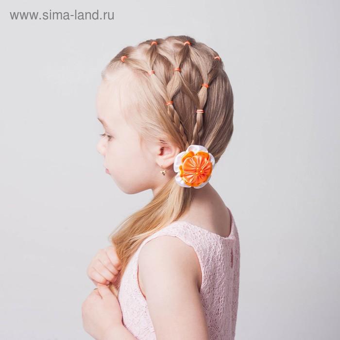 Резиночки для плетения, набор 200 шт., крючок, крепления, пяльцы, аромат ананаса, цвет оранжевый