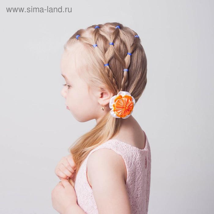 Набор резинок для волос, 200 шт., аромат клубники, цвет синий
