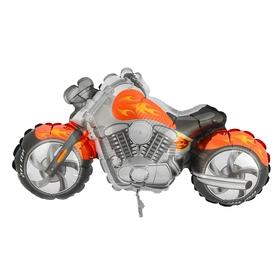 """Шар фольгированный 12"""" """"Мотоцикл"""" для палочки, цвет оранжевый"""