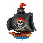 """Шар фольгированный д/палочки 3 12"""" Корабль пиратский Черный ФМ"""