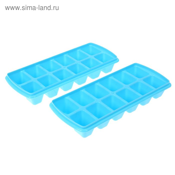 Набор формочек для льда 12 ячеек 2шт. МИКС