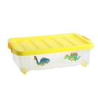 Ящик для игрушек 30 л Junior на роликах с крышкой, рисунок МИКС
