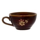 """Чашка 300 мл """"Чайная"""" коричневая деколь"""