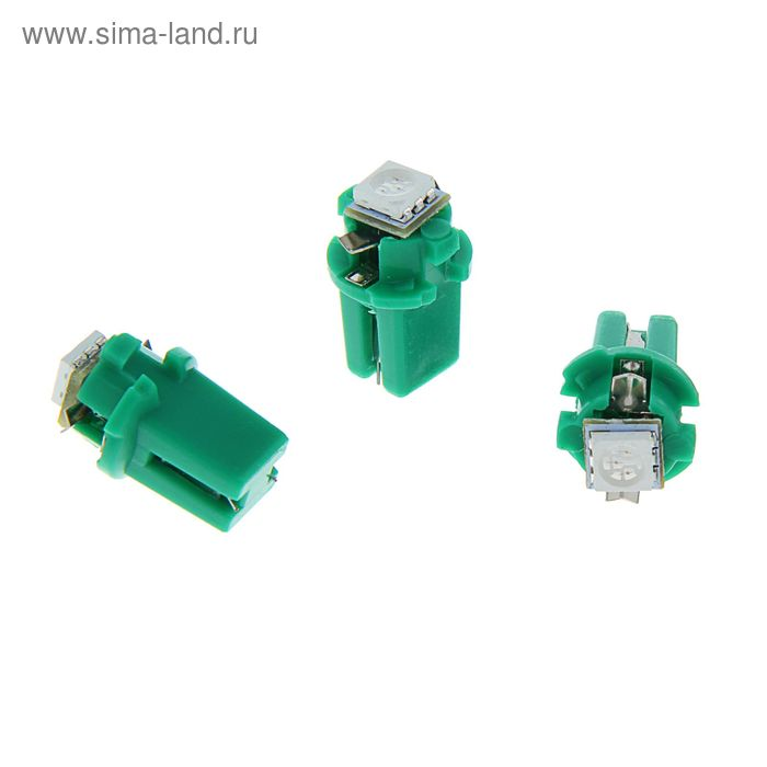Комплект светодиодных ламп TORSO T5 8,3D, габарит, 12 В, SMD-5050, 10 шт., свет зелёный
