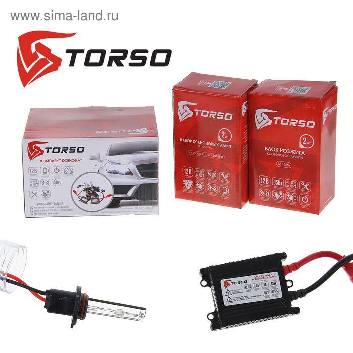 Комплект ксенона TORSO, блок розжига DC Slim, 35 Вт, 12 В, цоколь H10, 5000 К