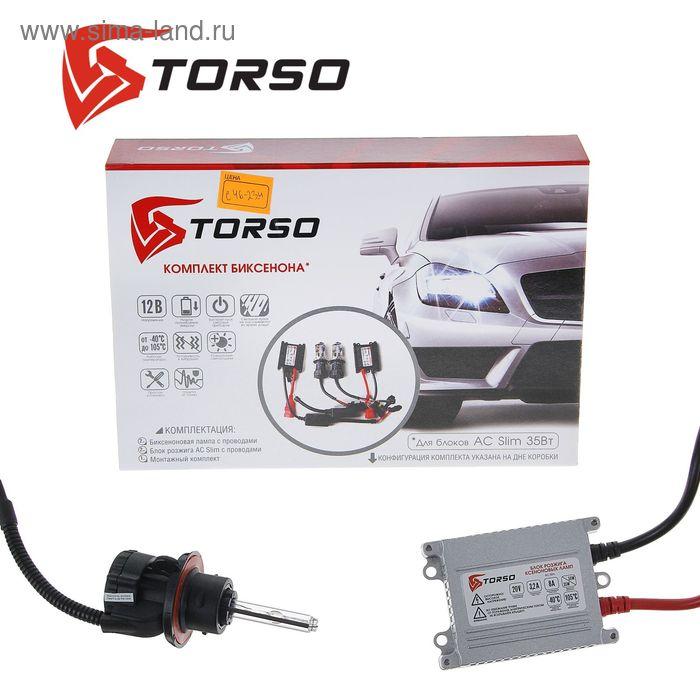 Комплект биксенона TORSO, блок розжига AC Slim, 35 Вт, 12 В, цоколь H13, 4300 К