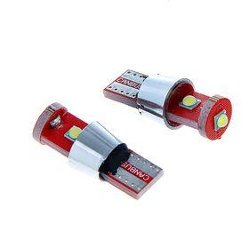 Комплект светодиодных ламп TORSO T10 W5W, габарит, 12 В, 1SMD-5050 и 2 LED-COB, белый, 2шт.,