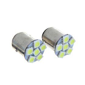 Комплект светодиодных ламп TORSO P21/5W, 12 В, 6 SMD-5050, 2 шт., свет белый
