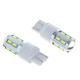 Комплект светодиодных ламп Т20 (W21/5W,7443), 12V, 12 SMD-5630 и 1LED-COB CREE 3W, 2 шт. Бел