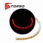Светодиодная линейка TORSO, 24LED, 24 см, 12 В, IP68, свет красный