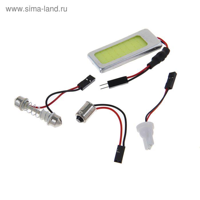 Автолампа светодиодная TORSO, универс.,12 В, 1 LED-COB, 3.6 Вт, стабилизатор, свет белый