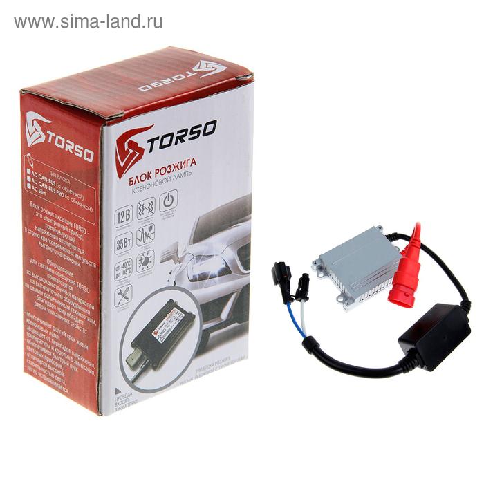Блок розжига ксенона TORSO, АС Slim, с проводами, 35 Вт, 12 В