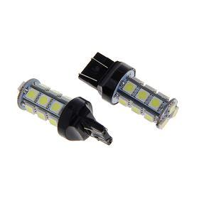 Комплект светодиодных ламп TORSO Т20 (W21/5W, 7443), 12 В, 18 SMD-5050, 2 шт., свет белый