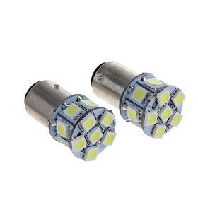 Комплект светодиодных ламп TORSO P21/5W, 12 В, 13 SMD-5050, 2 шт., свет белый