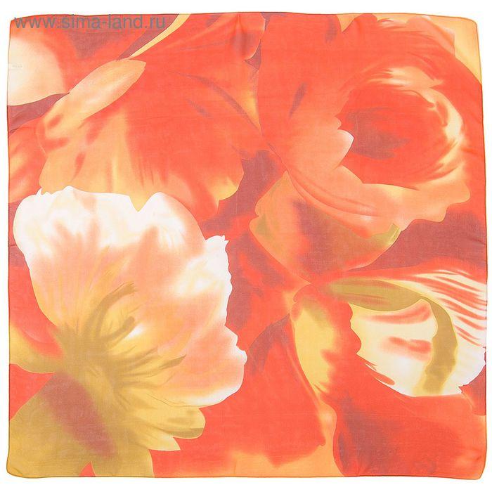 Платок шифоновый многоцветный 90*90 см, цвет 71-4 # 58
