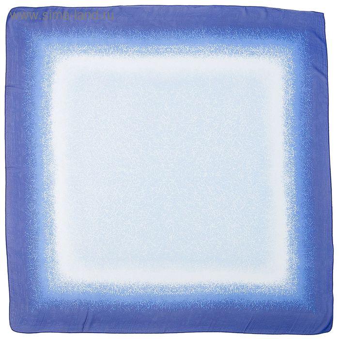 Платок шифоновый многоцветный 90*90 см, цвет 2-3 # 58