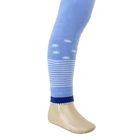 Легинсы детские плюшевые ПЛС16-1713, цвет голубой, рост 74-80 см