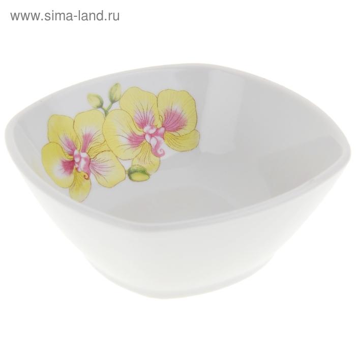 """Салатник квадратный 150 мл """"Орхидеи"""""""