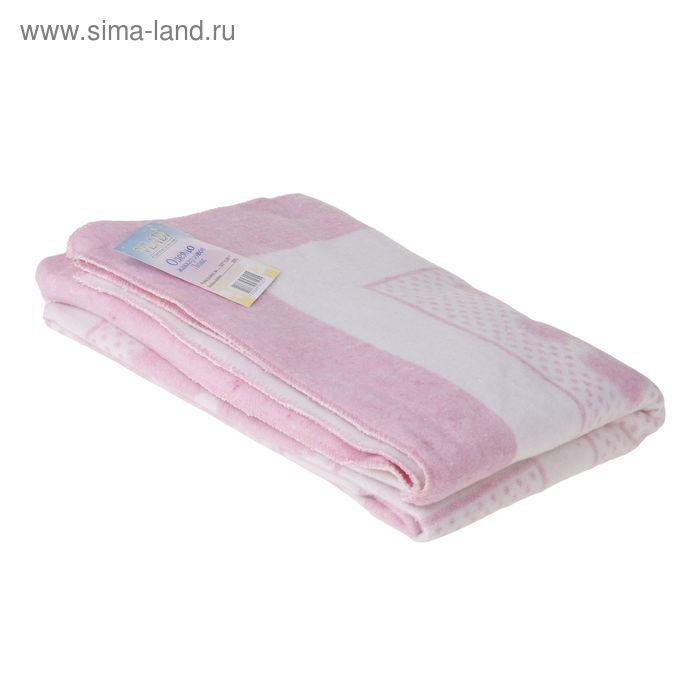 """Одеяло жаккардовое """"Барни"""", размер 100х140 см, хлопок, цвет белый/розовый"""