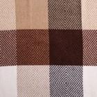 "Плед шерстяной ""Скиф"", размер 140х200 см, цвет белый/бежевый/коричневый/терракот"