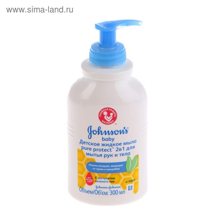 Жидкое мыло Johnson's baby Pure Protect 2 в 1 для мытья рук и тела, 300 мл