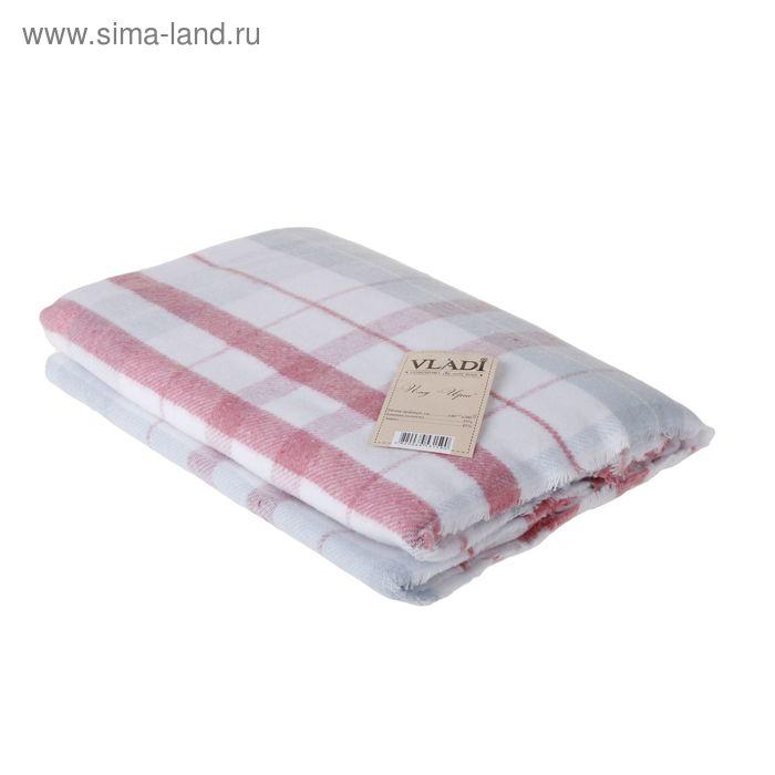 """Плед """"Ирис"""", размер 140х200 см, цвет белый/голубой/розовый"""