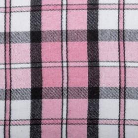 Плед шерстяной «Лондон», размер 140х200 см, белый/серый/розовый, рап 4